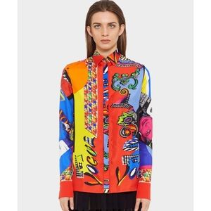 Versace 'Vogue SS 91' Long Sleeve Button Down Sz 6